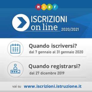 Iscrizioni online 2020/21